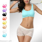 Removable Chest Pad Seamless Without Rim Yoga Running Sport Sleping Bra Vest HX
