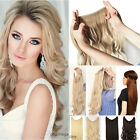"""20"""" Long Invisible Wire Secret Hair Piece Extensions Real Natural Brown Black UK"""