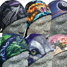 2 Doo Head Wrap Do Polyester Hat Du Skull Cap Motorcycle Black Rag Mens Bike