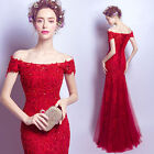 F010 tulle lace Beads Mermaild Wedding dress Formal Evening Prom Party Ball Gown