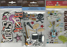 U CHOOSE  Assorted Recollections ROCK STAR 3D Stickers band guitar drums skull