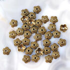 Bead Cap Antique Gold Copper Bronze Jewelry Findings Free Shipping 32pcs 10mm