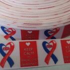 1 to 5 mt rs CHD Awareness Grosgrain Ribbon Cards Cakes  Gifts Hairbows
