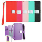 For LG Grace LTE Premium Slide Out Pocket Wallet Case Pouch Cover + Screen Guard