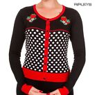 BANNED Strawberry Red   PARADISE CITY Cardigan Polka Dot All Sizes