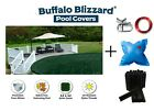 Above Ground Round RIPSTOPPER Swimming Pool Winter Covers w/ Air Pillow & Clips
