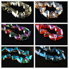 5pcs 21x18mm Glass Crystal Charms Faceted Heart Loose Spacer Beads DIY