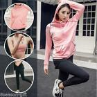 3pcs/set Yoga Fitness Hooded Sweatshirt Sports Bra Slim Yoga Pants Trousers HX