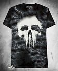 New Marvel Punisher Tie-Dyed Halftone Mens T-Shirt