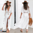 NEW Womens Boho Long Kaftan Maxi Dress Bandage Bikini Cover Up Party Beach Dress