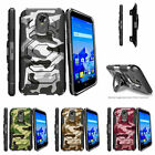 For LG Stylo 3 | LG Stylo 3 + | LS777 (2017) Clip Holster Stand Case Gray Camo