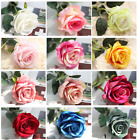 50 Head Real Touch Latex Rose Flowers For Home Wedding Bouquet Decoration FHJ