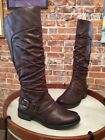 Bare Traps Sheridan Dark Brown Ruched Riding Boot NEW