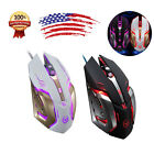 Ajustable Wired LED Light Optical Gaming Mouse 6 Button Custom Macros Steel Mice