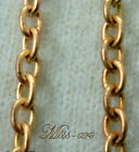 Smooth Ovals Vintage SOLID BRASS COPPER Red Blond Chain Necklace ALL SIZES- LAST