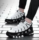 Korean  Mens Sports Shoes Lace Up Hiking Shoes Atheletic Sneakers casual new S#@