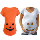 1PC Halloween Pregnant Ladies Pumpkin Face Maternity T-shirt Pregnancy Top
