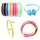 3pcs 10pcs 10mm Satin Ribbon Covered Hair Alice Bands Headbands DIY Eco Quality