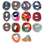 Внешний вид - Women's Infinity Scarf Lightweight Circle Loop Wrap Fun Printed Sheer Shawl