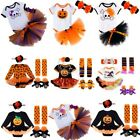 Baby Girl Infant Halloween Toddler Romper Jumpsuit Top Bottom Set Outfit Clothes