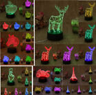 USB Night light LED Horse 3D Animal Table Desk Lamp Touch Swithch 7-color Xmas