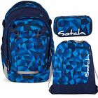 satch MATCH 3er Set Blue Crush Rucksack Schlamperbox Turnbeutel