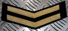 Genuine British Naval MoD Royal Navy RN Gold Chevrons Patch badge - Brand NewBadges/ Patches - 36078