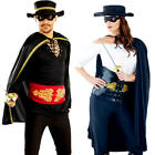 Masked Bandit Adults Fancy Dress Spanish Mexican Hero Ladies Womens Mens Costume