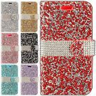 For Apple iPhone 8 Premium Bling Diamond Wallet Flip Pouch Cover +Screen Guard