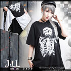punk visual rock necromancer Toxic bottle tuxedo tail long tshirt【JAG0013】