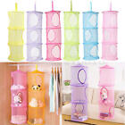 3 Tiers Cylindrical Hanging Storage Net Wall Door Closet Kids Toy Organizer Bag