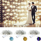 US 3Mx2M LED Xmas String Fairy Wedding Halloween Curtain Lights Decors 110/220V