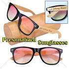 Personalized Engraving Bamboo Wooden 2Tone Lens UV400 Sunglasses Bridesmaid Gift