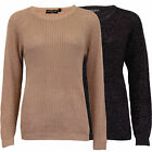 Ladies Knitted Jumpers Brave Soul Womens Sweater Lurex Pullover Top Winter New