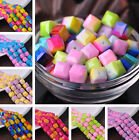 Wholesale 8mm 10mm Coloried Cube Square Faceted Glass Loose Spacer Beads