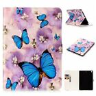 Oil Painting 3D Relief Beautiful Butterfly Stand Leather Cover case for tablet