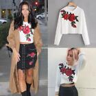 Women O-Neck Long Sleeve Tank Top Embroidered Slim Fit Crop Top Latest