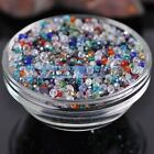 (32 Facets) 200pcs 3mm Faceted Round Glass Crystal Loose Spacer Beads DIY