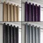 Tony's Textiles Glitter Glamour Lined Window Curtains Drapes Grommet Top