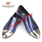 Mens Metallic Toe Pull On Dress Formal Loafers Moccasins Chic Gentle Stage Shoes