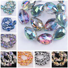 5pcs 24X17mm Multi-Color Faceted Teadrop Glass Crystal Loose Pendant Drop Beads