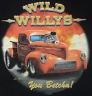 T-Shirt #735 WILD WILLYS,V8 HotRod Old School Musclecar Dragster DRAGRACING USA