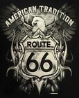 T-Shirt #743 AMERICAN TRADITION BIKER ROUTE 66 V8 USA CUSTOM BIKE MOTORRAD