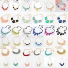 Women Jewelry Pendant Crystal Choker Chunky Statement Chain Bib Necklace