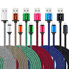 LOT 3 FT Micro USB Data Sync Charger Charging Cable Cord for Samsung S7 Edge LG