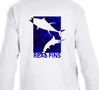 Dry Blend UPF Tuna Marlin Long Sleeve Microfiber Fishing T-Shirt Athletic Fit