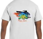 Real Fins Fishing T-Shirt  Red Snapper Yellowtail Snapper Mahi Mahi Dolphin Boat