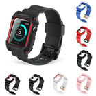 Pro Rugged Resilient Protective Case With Strap Band For Apple Watch 38mm 42mm