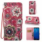 Beautiful Flowers 3D Wallet Leather case cover strap for Samsung S8 iphone 8