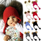 Newborn Baby Boy Girl Pom Hat Winter Warm Crochet Knit Bobble Beanie Cap BKB